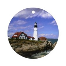 Maine Lighthouse Ornament (Round)