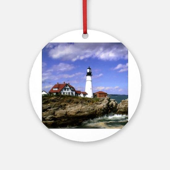 Maine Lighthouse Ornament (Round)