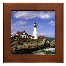 Maine Lighthouse Framed Tile