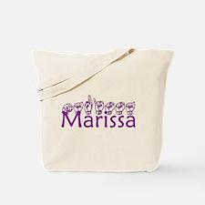 Marissa-txt Tote Bag