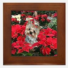 Yorkshire Terrier Yorkie Christmas Framed Tile