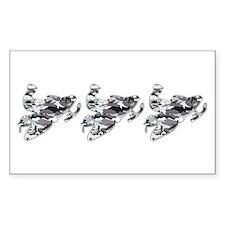 3 Grey Camo Sledders Rectangle Decal