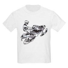 Camoflage Snowmobiler in Grey T-Shirt