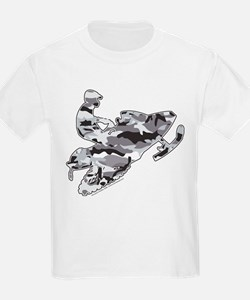 Camoflage Snowmobiler in Grey T-Shirt