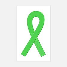 Lime Ribbon Rectangle Sticker 10 pk)