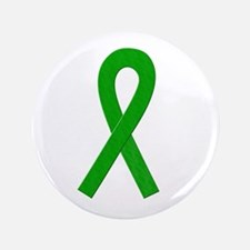 "Green Ribbon 3.5"" Button"