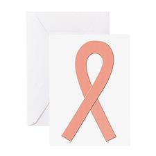 Peach Ribbon Greeting Card