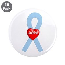 "Lt. Blue Hope 3.5"" Button (10 pack)"