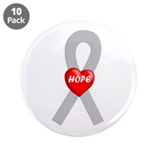 """Gray Hope 3.5"""" Button (10 pack)"""