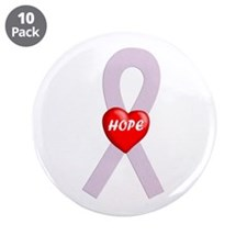 """Orchid Hope Heart 3.5"""" Button (10 pack)"""