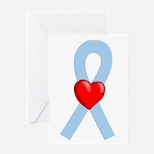 Lt Blue Ribbon Greeting Card