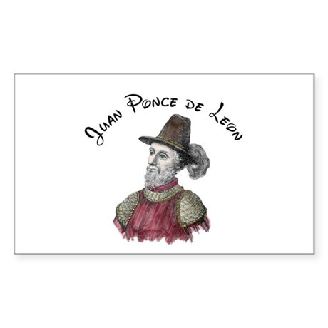 JUAN PONCE DE LEON Rectangle Sticker