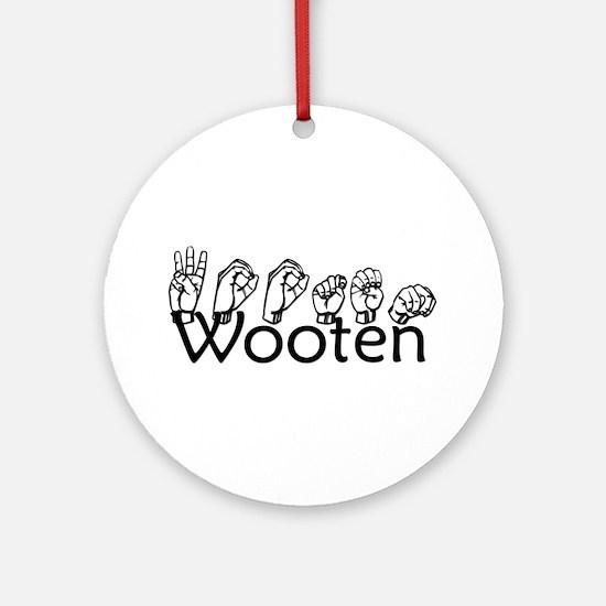Wooten Ornament (Round)
