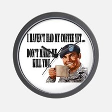 No Coffee Yet Wall Clock