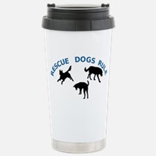 Rescue Dogs Rule Shadow Dogs Stainless Steel Trave