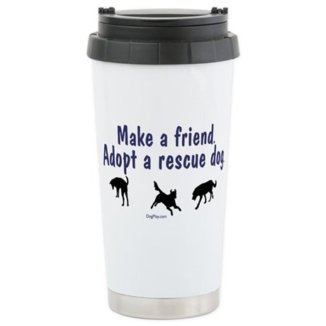 Adopt A Rescue Stainless Steel Travel Mug