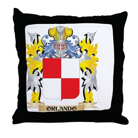 Orlando Family Crest - Coat of Arms Throw Pillow