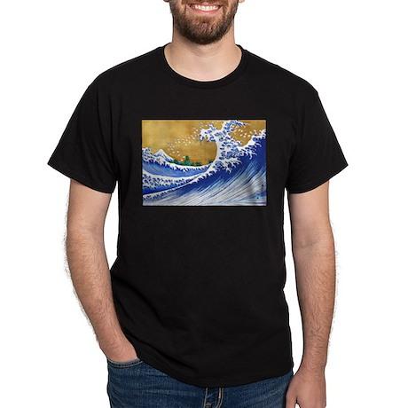 Beautiful Ocean Waves Dark T-Shirt