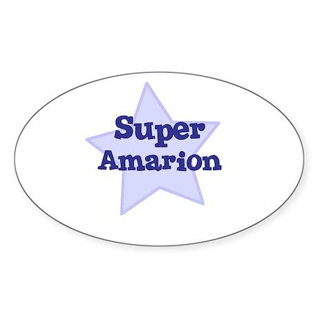 Super Amarion Oval Sticker