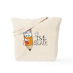 Happy Pencil 1st Grade Tote Bag