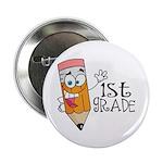 "Happy Pencil 1st Grade 2.25"" Button (10 pack)"