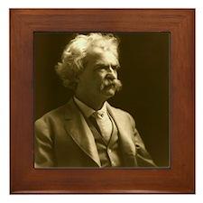 Mark Twain Framed Tile