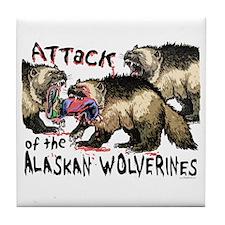 Alaskan Wolverine Tile Coaster