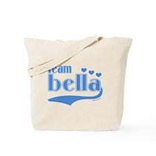 Team Bella Blue Hearts Tote Bag