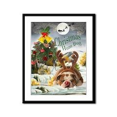 Bulldog Humbug Christmas Framed Panel Print