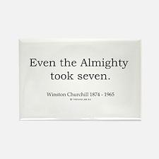 Winston Churchill 6 Rectangle Magnet