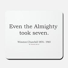 Winston Churchill 6 Mousepad