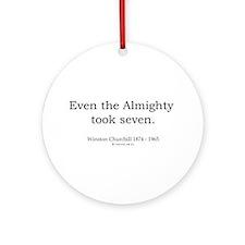 Winston Churchill 6 Ornament (Round)