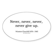 Winston Churchill 7 Oval Decal