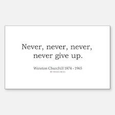 Winston Churchill 7 Rectangle Decal