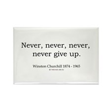Winston Churchill 7 Rectangle Magnet (10 pack)