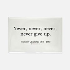 Winston Churchill 7 Rectangle Magnet