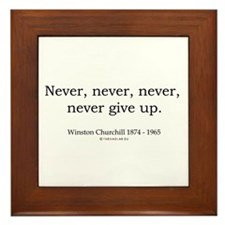 Winston Churchill 7 Framed Tile