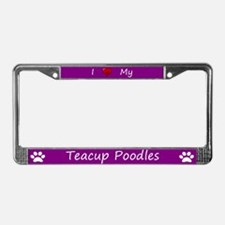 Purple I Love My Teacup Poodles Frame