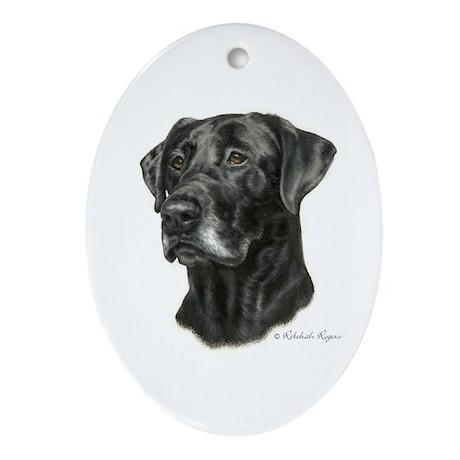 Black Lab Oval Ornament