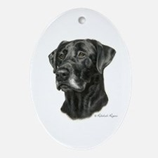 Black Lab Oval Ornament