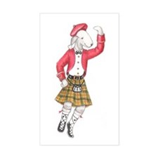 Bedli Scottish Dancer Rectangle Decal