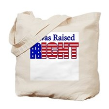 Raised Right Tote Bag