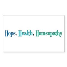 Homeopathy Gift Rectangle Decal