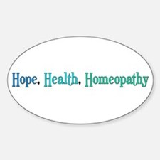 Homeopathy Gift Oval Decal