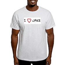 I Love JAKE Ash Grey T-Shirt