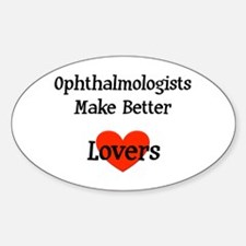 Ophthalmologist Gift Oval Decal