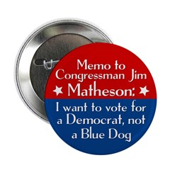 Memo to Jim Matheson campaign button