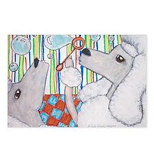 Standard Poodles/Bubbles Postcards (Package of 8)