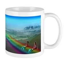 Cute Rainbow mountain Mug