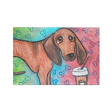 Redbone Coonhound Rectangle Magnet (10 pack)